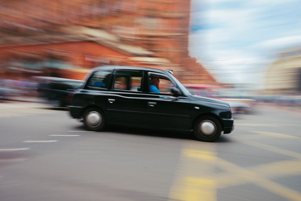 Busy Black Cab Scene