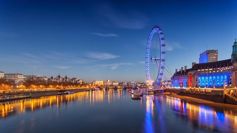 London Eye and River Thames